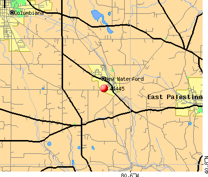 New Waterford, OH (44445) map