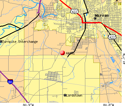 Lordstown, OH (44481) map