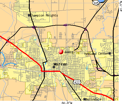 Warren, OH (44483) map