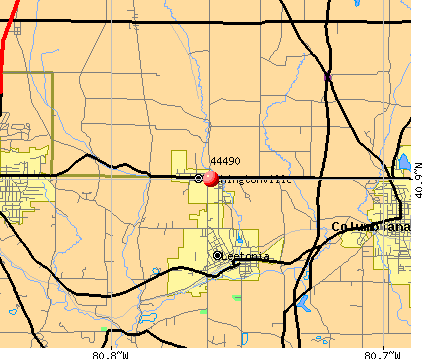 Washingtonville, OH (44490) map