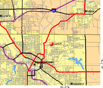 Youngstown, OH (44505) map