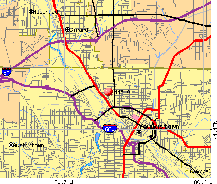 Youngstown, OH (44510) map