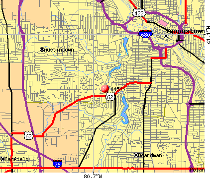 Youngstown, OH (44511) map