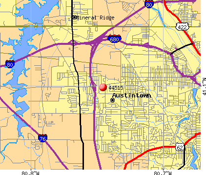 Austintown, OH (44515) map