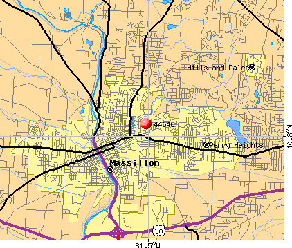 Massillon, OH (44646) map