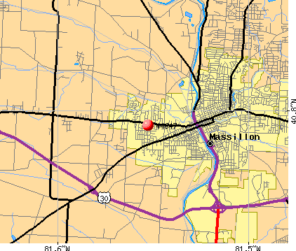 Massillon, OH (44647) map