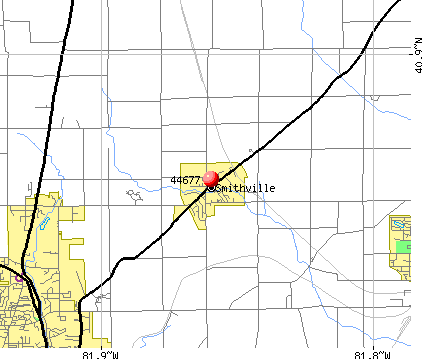 Smithville, OH (44677) map