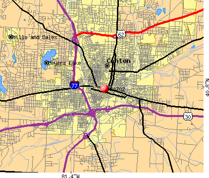 Canton, OH (44702) map