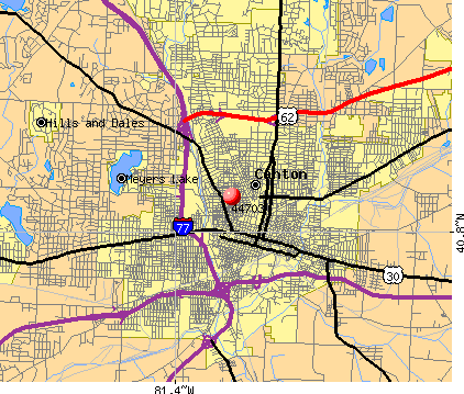 Canton, OH (44703) map