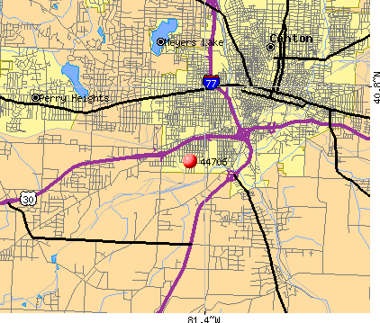 Canton, OH (44706) map