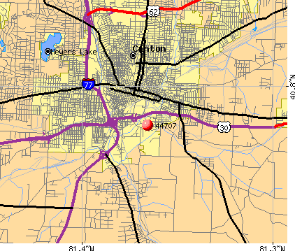 Canton, OH (44707) map