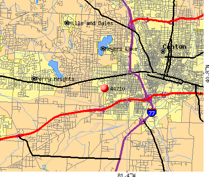 Canton, OH (44710) map