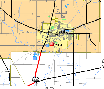 Galion, OH (44833) map