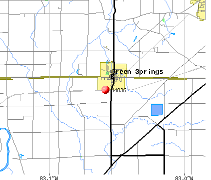 Green Springs, OH (44836) map