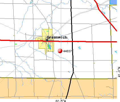 Greenwich, OH (44837) map