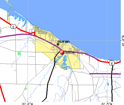 Huron, OH (44839) map
