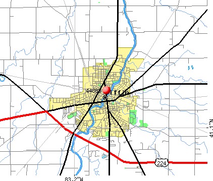 Tiffin, OH (44883) map