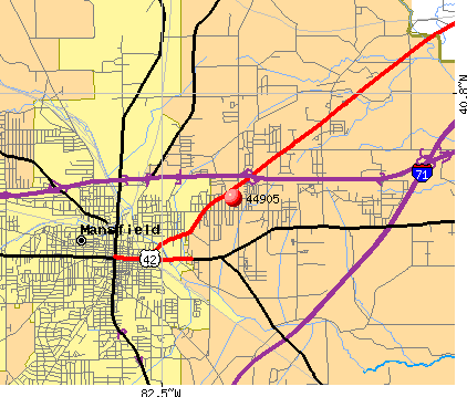 Mansfield, OH (44905) map