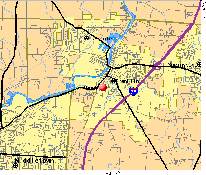 Franklin, OH (45005) map