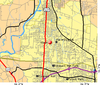 Fairfield, OH (45014) map