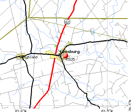 Leesburg, OH (45135) map