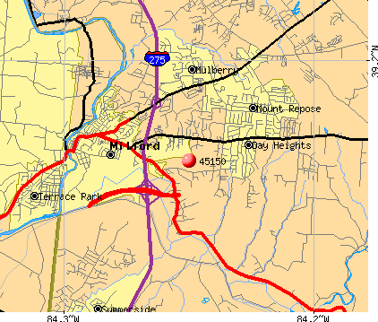Milford, OH (45150) map