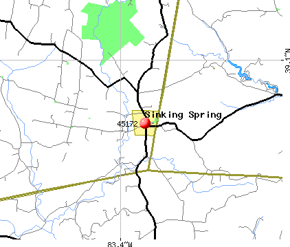 Sinking Spring, OH (45172) map