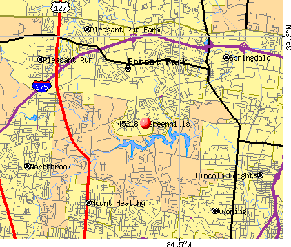 Greenhills, OH (45218) map
