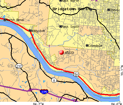 Cincinnati, OH (45233) map