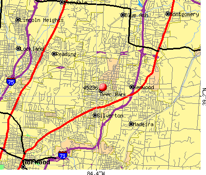 Kenwood, OH (45236) map