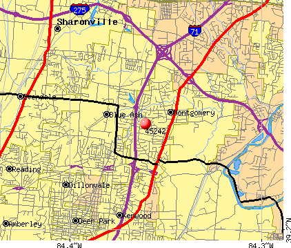 Blue Ash, OH (45242) map