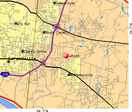 Withamsville, OH (45245) map
