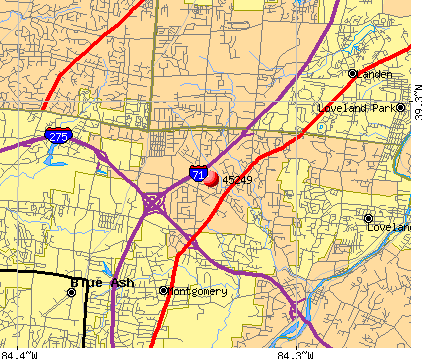 Montgomery, OH (45249) map