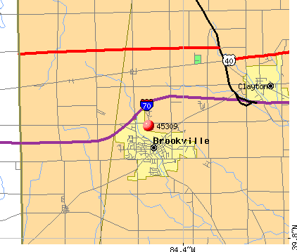 Brookville, OH (45309) map