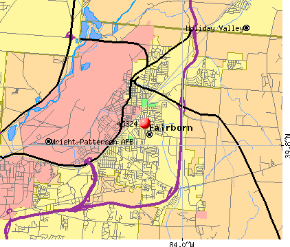 Fairborn, OH (45324) map