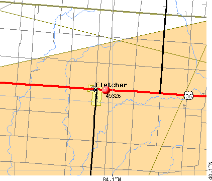 Fletcher, OH (45326) map