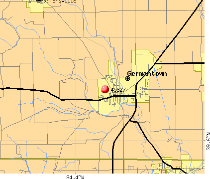 Germantown, OH (45327) map