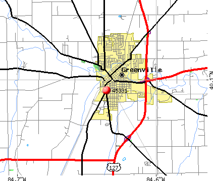 Greenville, OH (45331) map