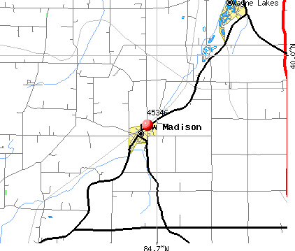 New Madison, OH (45346) map