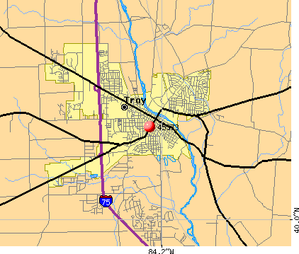 Troy, OH (45373) map