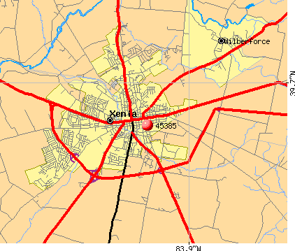 Xenia, OH (45385) map