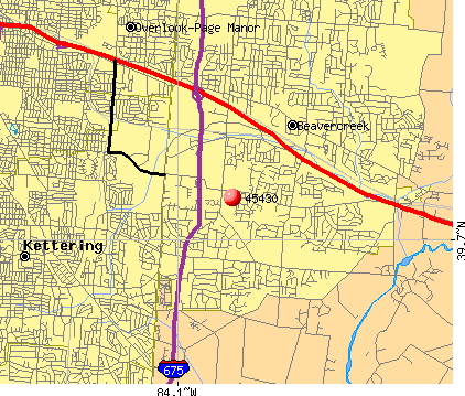 Beavercreek, OH (45430) map