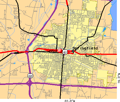 Springfield, OH (45502) map