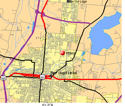 Springfield, OH (45503) map