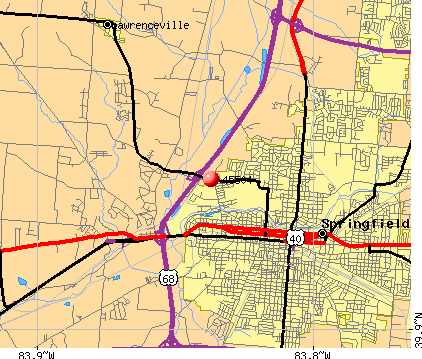 Springfield, OH (45504) map