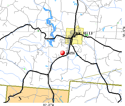 Oak Hill, OH (45656) map