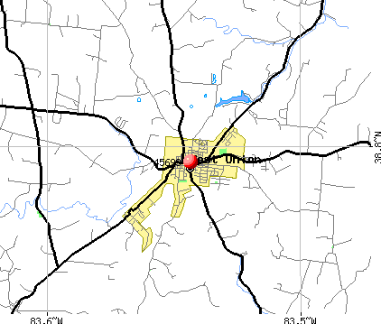 West Union, OH (45693) map