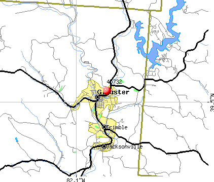 Glouster, OH (45732) map