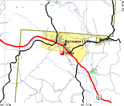 Nelsonville, OH (45764) map