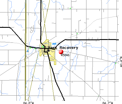 Fort Recovery, OH (45846) map